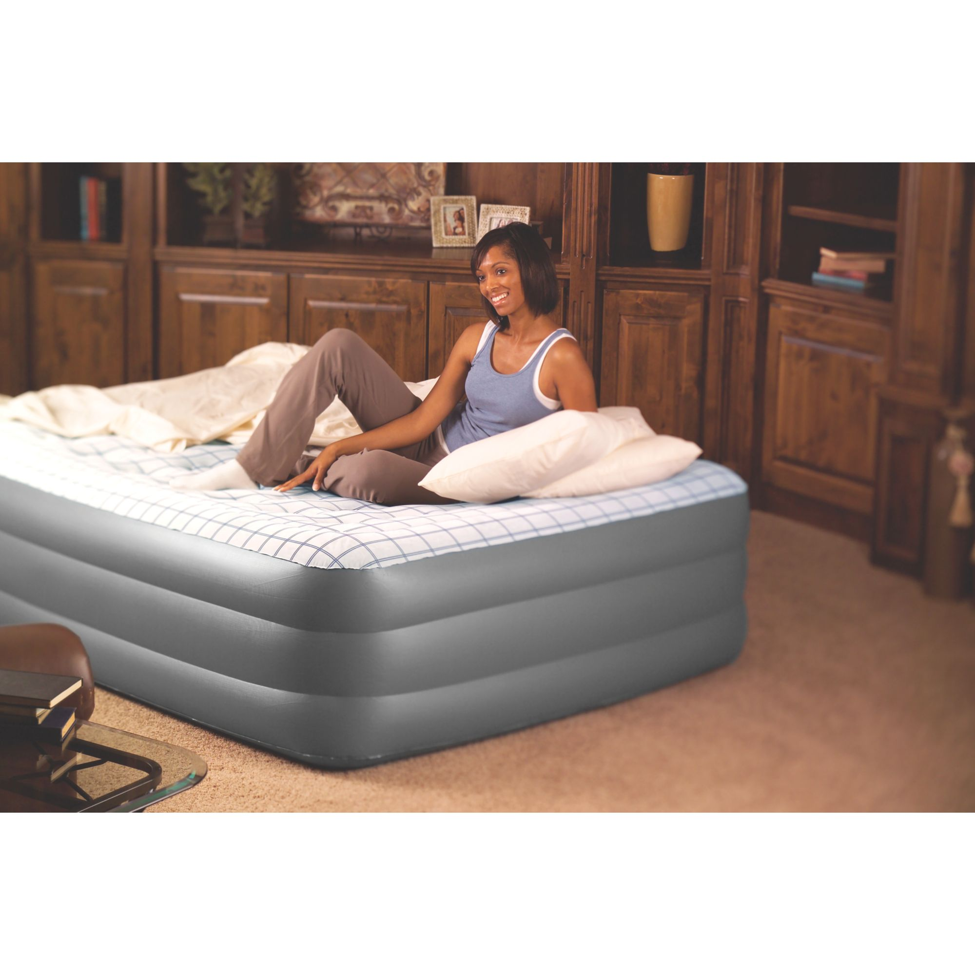 Coleman Premium Double High SupportRest Airbed with Built in Pump