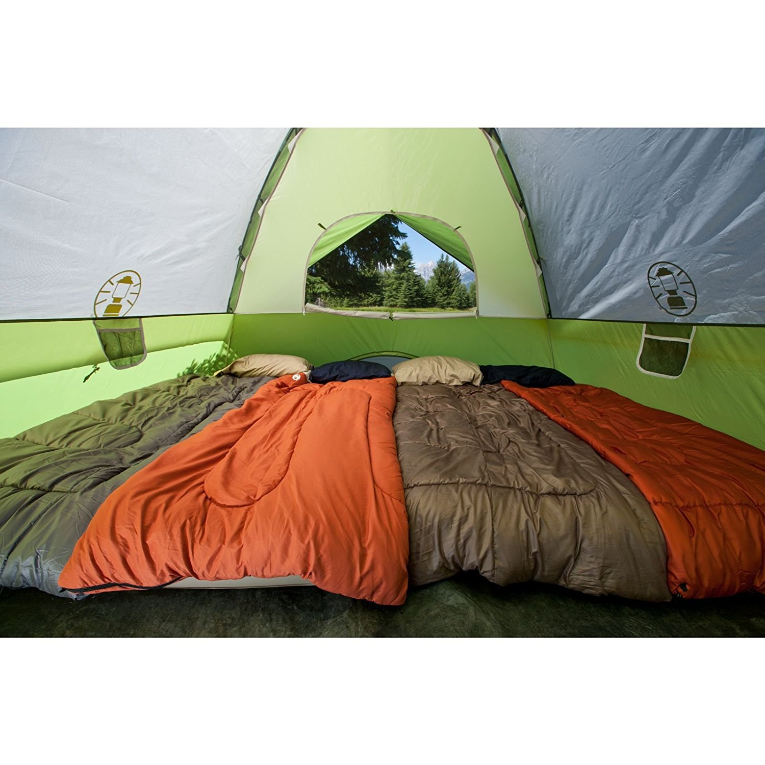 Coleman Sundome 6-Person Dome Tent inside