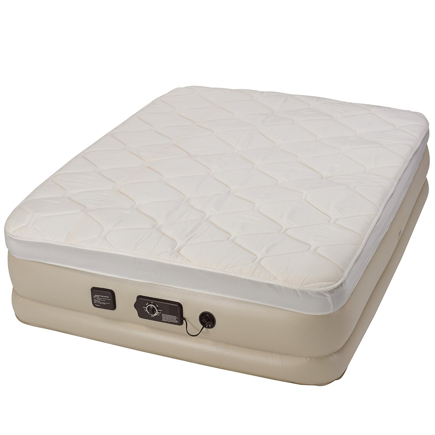 Serta Raised Comfort Coil Airbed with NeverFlat Pump inflated